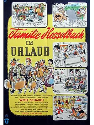 FILM PLAKAT Familie Hesselbach im Urlaub