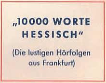 Annonce mit Druckfehler: 10.000 Worte Hessisch