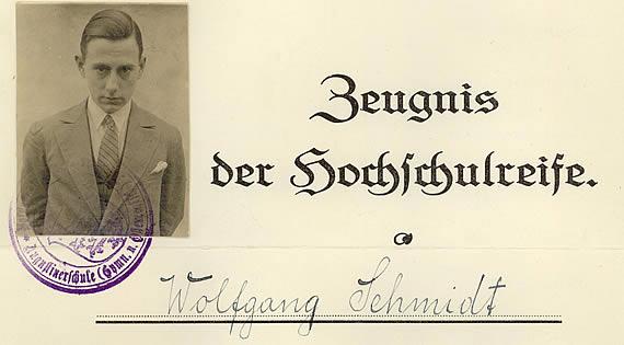 Hochschulreife 1931