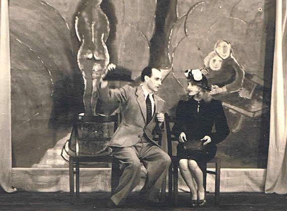 1946, Die Zeitgenossen (Kabarett) Wolf Schmidt mit Gretl Pilz