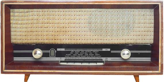 Radioapparat der 1950er Jahre