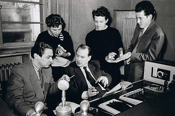 Im Regieraum beim Hessischen Rundfunk