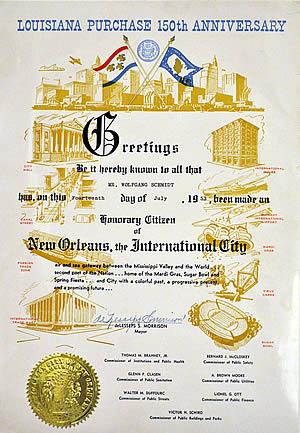 Ehrenbürger von Louisiana 1953