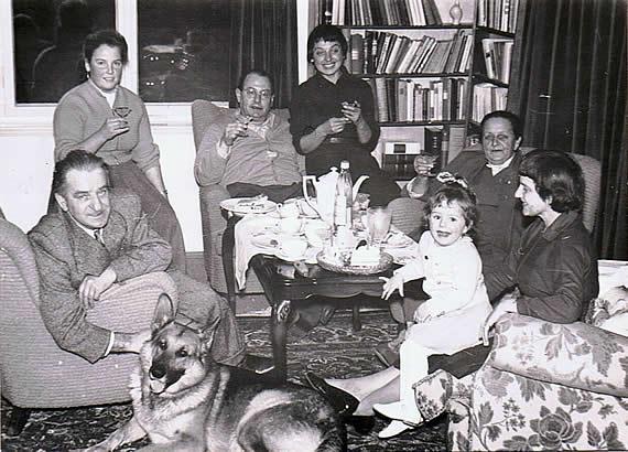 Wolf Schmidt mit Familie 1959