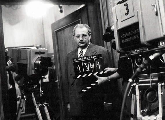 Dreharbeiten Fernsehen, 1. Klappe, 1960
