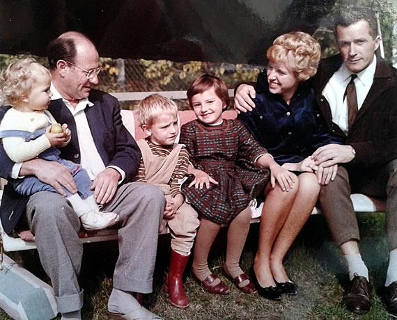 Wolf Schmidt mit Kindern und Schwiegersohn
