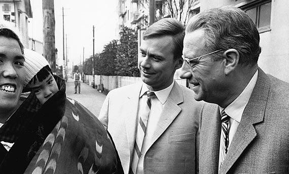 Harald Schäfer und Wolf Schmidt beim Dreh für die Hesselbachs