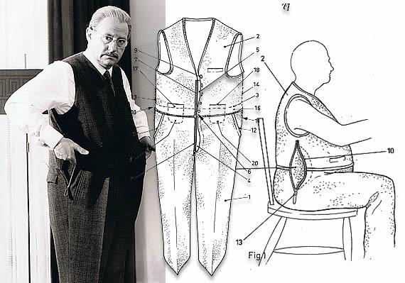 Wolf Schmidt in seinem patentierten Anzug