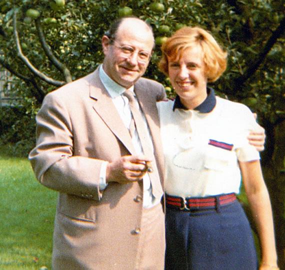 Wolf Schmidt mit Tochter Anja, 1968