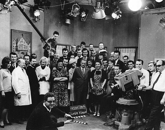 Letzte Klappe der Hesselbachs im Studio des Hessischen Rundfunks