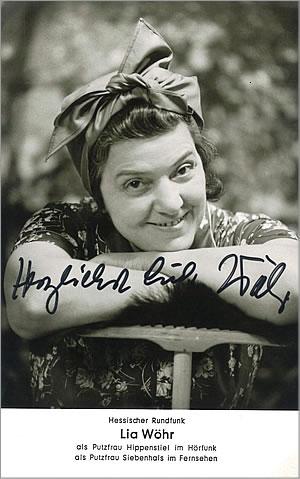 Autogrammkarte von Lia Wöhr