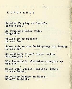Gedicht Das Hundernis