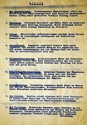 Blatt aus Wolf Schmidts Motivliste