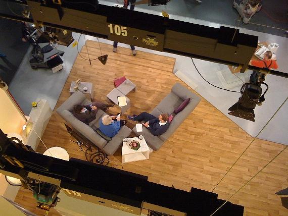 Blick von oben ins Studio