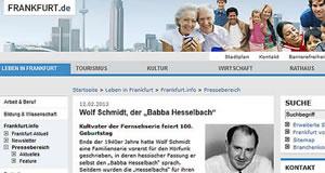 Frankfurt.de Online  vom 12. 02. 2013
