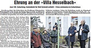 Wetterauer Zeitung vom 23. Februar 2013